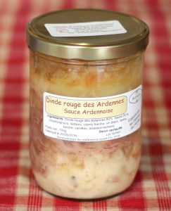 prod- dinde rouge sauce ardennaise 700g